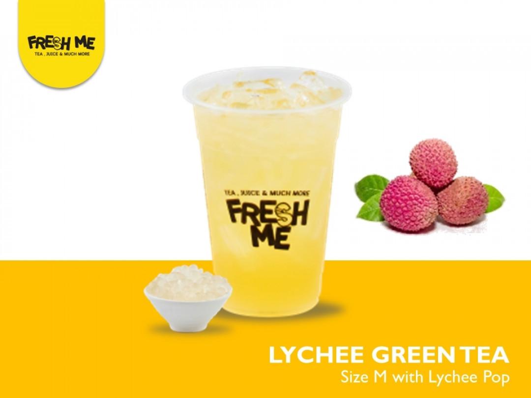 Lychee Tea + Pop Lychee