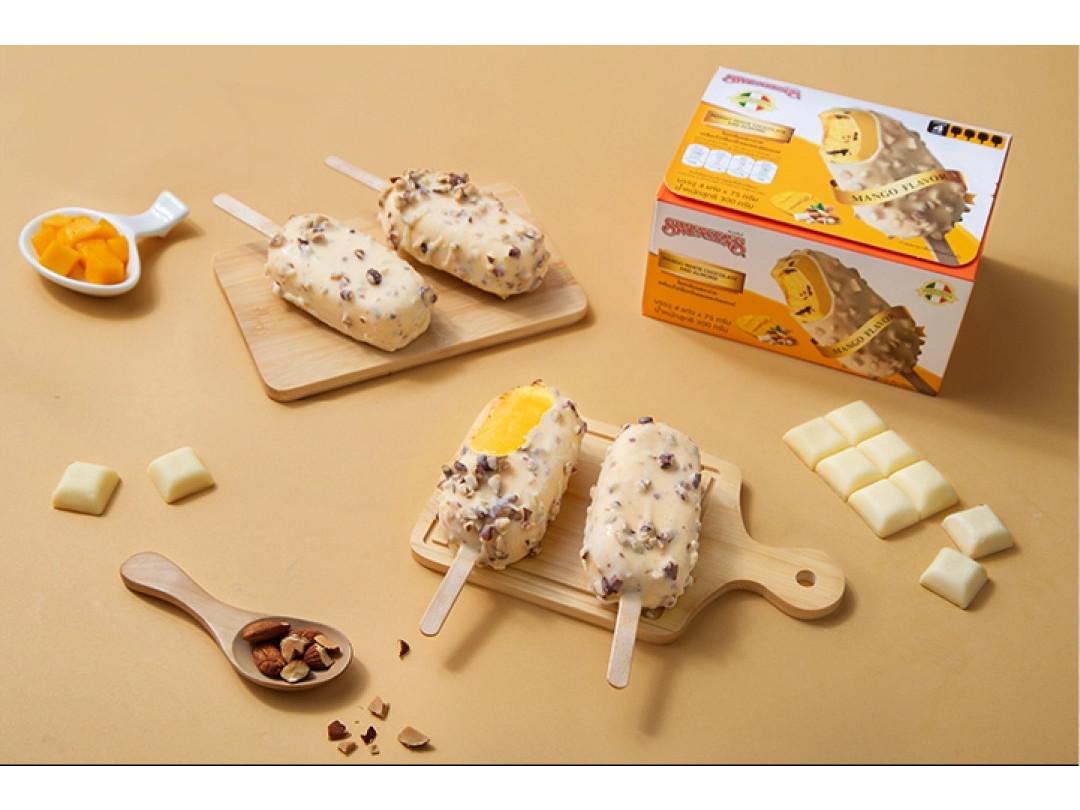 ไอศกรีมบาร์มะม่วง มัลติแพ็ค 4 แท่ง