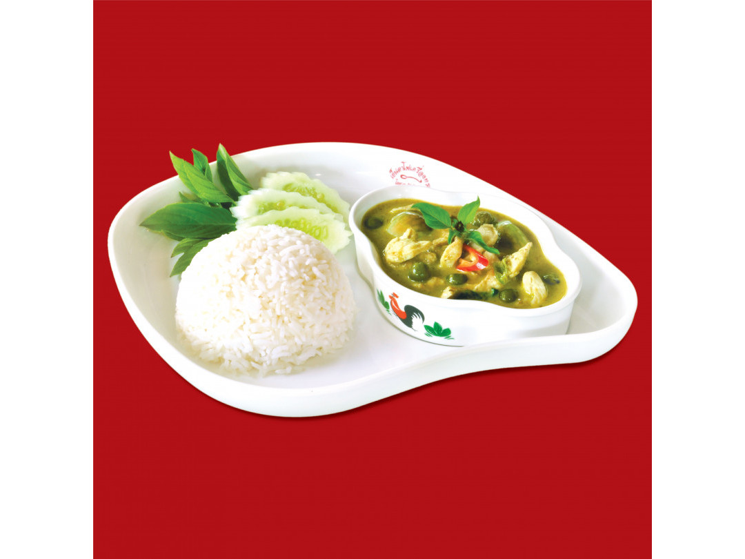 ข้าวแกงเขียวหวานไก่