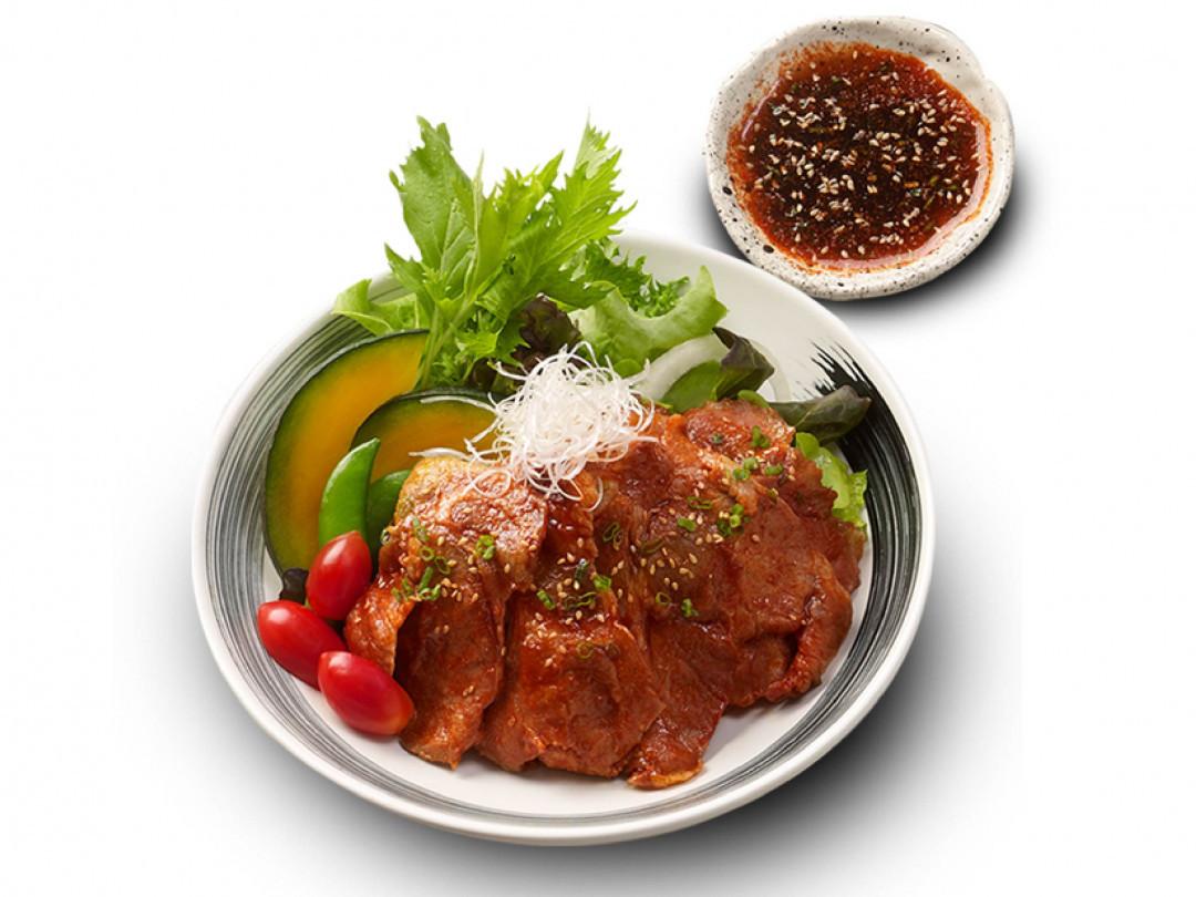 สลัดบาร์บีคิวหมูเกาหลี