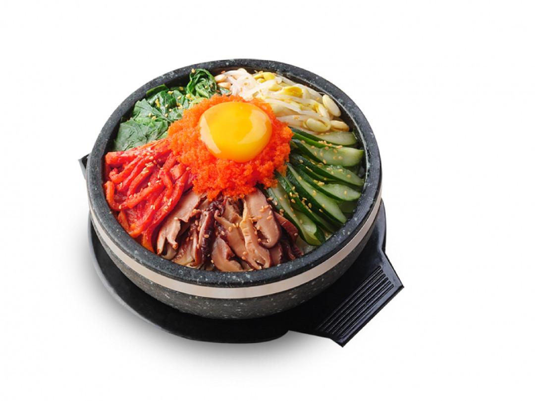 ข้าวยำเกาหลีใส่ไข่กุ้ง